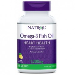 Natrol Omega-3 Fish Oil 1200mg | 60 sgels