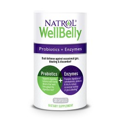 Natrol Well Belly Probiotics + Enzymes | 30 caps