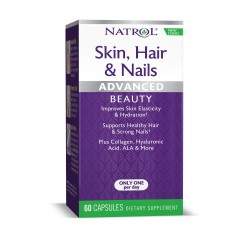 Natrol Skin Hair Nails + Collagen | 60 caps